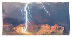 Canyon Storm Beach Towel by Gary Grayson