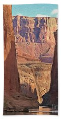 Canyon Walls Beach Towel by Walter Colvin