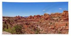 Canyonlands National Park - Big Spring Canyon Overlook Beach Sheet by Brenda Jacobs