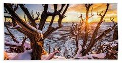 Canyonlands Winter Sunset Beach Towel
