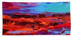 Canyon At Dusk - Art By Elise Palmigiani Beach Sheet