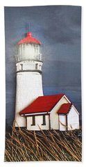 Cape Blanco Glow Beach Towel by Wendy McKennon