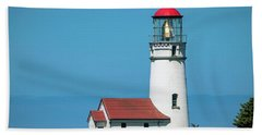 Cape Blanco Lighthouse At Cape Blanco, Oregon Beach Towel