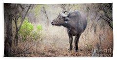 Cape Buffalo In A Clearing Beach Towel