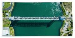 Cape Cod Canal Railroad Bridge Beach Towel
