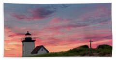 Beach Towel featuring the photograph Cape Cod Long Point Light by Bill Wakeley