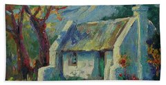 Cape Cottage With Mountains Art Bertram Poole Beach Towel by Thomas Bertram POOLE