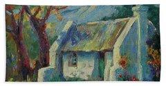 Cape Cottage With Mountains Art Bertram Poole Beach Sheet