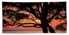 Beach Towel featuring the photograph Cape Fear Sunset Overlook by Phil Mancuso