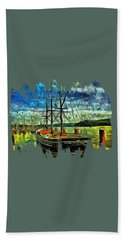 Beach Towel featuring the photograph Cape Foulweather Tall Ship by Thom Zehrfeld