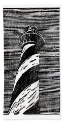 Beach Towel featuring the painting Cape Hatteras Lighthouse II by Ryan Fox