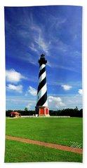 Beach Towel featuring the photograph Cape Hatteras Lighthouse by Meta Gatschenberger