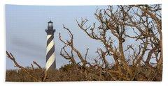 Cape Hatteras Lighthouse Through The Brush Beach Towel