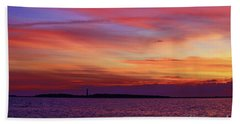 Cape Lookout Lighthouse At Sunrise Beach Towel