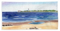 Beach Sheet featuring the painting Cape May Beach by Clara Sue Beym