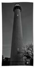 Cape May Lighthouse In Evening Bw Beach Sheet