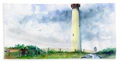 Cape May Lighthouse Beach Towel by John D Benson