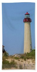 Cape May Lighthouse Vertical Beach Towel