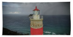 Beach Towel featuring the photograph Cape Moreton Light by Keiran Lusk