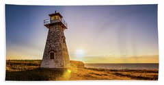 Cape Tryon Light Sunset Beach Towel