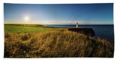Cape Tryon Lighthouse Sunset Beach Towel
