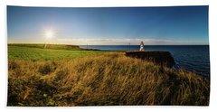 Cape Tryon Lighthouse Sunset Beach Towel
