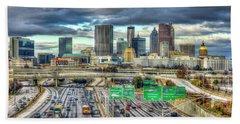 Capital Of The South Atlanta Skyline Cityscape Art Beach Sheet