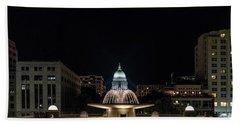 Capitol And Fountain Beach Towel