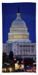 Capitol At Dusk Beach Sheet