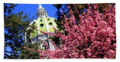 Capitol In Bloom Beach Towel