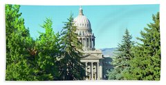 Capitol In The Trees Beach Towel