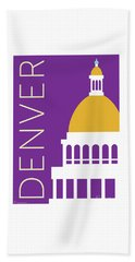 Denver Capitol/purple Beach Towel