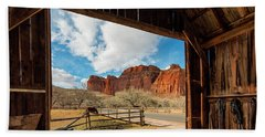Capitol Reef Barn Beach Towel