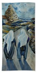 Cappadocia Impressions. Old Friends Beach Towel by Anna Duyunova