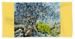 Cappadocia Nazar Tree Beach Towel by Anna Duyunova