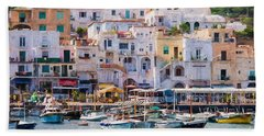 Capri Boat Harbor Beach Towel