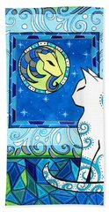 Capricorn Cat Zodiac Beach Sheet