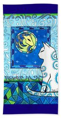 Capricorn Cat Zodiac Beach Towel