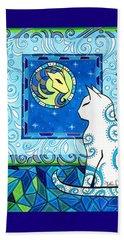 Capricorn Cat Zodiac Beach Sheet