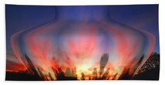 Beach Towel featuring the photograph Capricorn Morning by Joyce Dickens