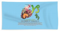 Capricorn Sun Sign Beach Towel