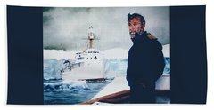 Capt Derek Law Beach Towel by Tim Johnson
