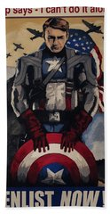 Captain America Recruiting Poster Beach Towel