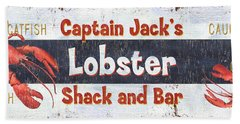 Captain Jack's Lobster Shack Beach Towel