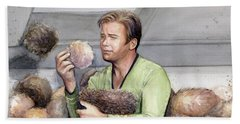 Captain Kirk And Tribbles Beach Towel