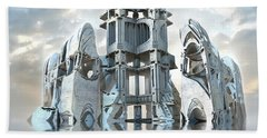 Captain Nemo's Palace Beach Towel by Hal Tenny