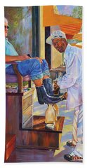 Captain Shoe Shine Beach Towel