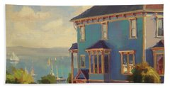 Beach Towel featuring the painting Captain's House by Steve Henderson