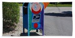 Beach Towel featuring the photograph Captiva Island Mailbox- Horizontal by Michiale Schneider