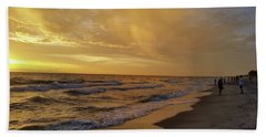 Captiva Sunset Watchers Beach Towel